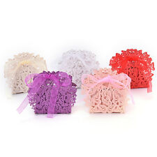 20 Pcs Butterfly Laser Cut Favor Ribbon Gift Box Candy Boxes Wedding Party Decor