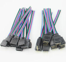 4 PIN Female Male RGB Connectors Bulk Wire Cable For 3528 5050 LED Lights Strip