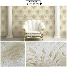 10m European Luxury Classic Flower Embossed Wallpaper Roll Background Room U2Y5