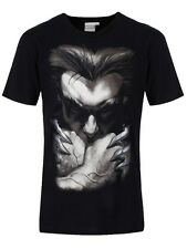 Marvel Wolverine Zoom Face Men's Black T-Shirt - NEW & OFFICIAL