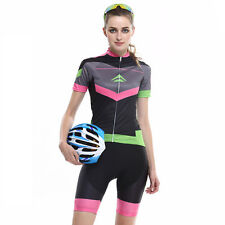 MERIDA Cycling Team Kit Womens Bicycle Bike Jersey Top & Gel Padded Shorts S-3XL
