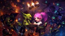 """Hearthstone Heroes of Warcraft Game Fabric Art Cloth Poster 24x13 43x24"""" Decor 3"""