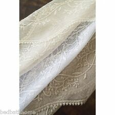 NEW Heritage Lace Sheer Divine Curtains or Valance or Swag Pair