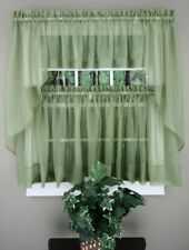 NEW - Stylemaster Elegance Voile SAGE Sheer Curtain