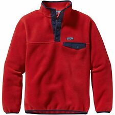Kids Patagonia Boys Lightweight Synchilla Snap-T Fleece Pullover Red 65570-COCR