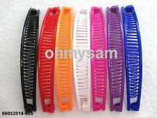 "7 NEW MULTI COLOR PLASTIC BANANA HAIR CLIPS /COMB / CLAW  6  ""LONG"
