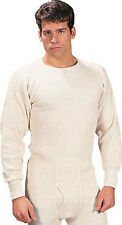 White Extra Heavyweight Cold Weather Thermal Knit Underwear Shirt