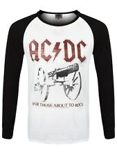 AC/DC For Those About To Rock Men's White Longsleeve T-Shirt