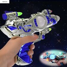 Space Toys With Sound Spinning Multi-Colors Plastic Kids Super Laser Children