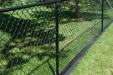 Black PVC coated  steel wire Chain-Link Fence wire mesh