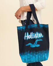 HOLLISTER GRAPHIC CANVAS TOTE BEACH BAG (CHOOSE DESIGN) NEW WITH TAGS
