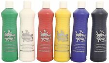 6 x 600ml Bottles Scola Artmix Washable Ready Mix Childrens Craft Poster Paint