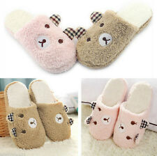 Bear Antiskid Indoor Home Animal Soft Men Warm Cute Slippers Plush Women Winter