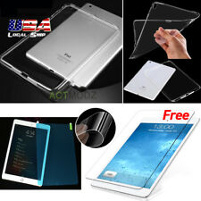 Shockproof TPU Clear Back Case Cover Soft Nano Screen Protector Guard For iPad