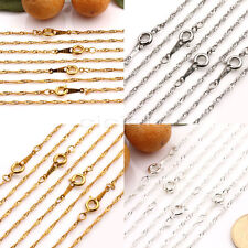 Women Lots 2/10Pcs Necklace Gold/Silver/White K Chain Round Clasp Jewelry Making