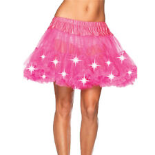 Womens Sexy Evening Party LED Light Mesh Layered Dance Show Rave Tutu Skirt