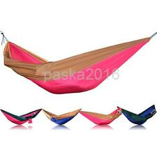 Portable 2 Person Hammock Hanging Sleeping Bed Parachute Swing Outdoor Camping