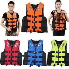 Boating Safe Swimming Life Jacket Vest Polyester Floating Foam + Whistle S~XXXL