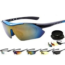 Outdoor Sports MTB Bike Bicycle Cycling Sunglasses Glasses Goggles UV400 5 Lens