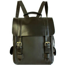 Vintage PU Leather Korean School Backpacks Fashion Men's Backpack Casual College