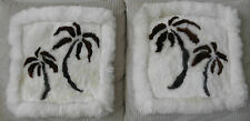 Handmade In Peru One Pair Of Baby Alpaca Fur Palm Tree Pillow Case Cover #32536