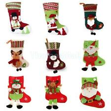 1x Merry Christmas Stocking Xmas Tree Gift Present Hanging Sack Pocket Pouch
