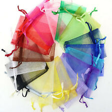 50 Organza Gift Bags Jewellery Christmas Packing Pouch Wedding Party Favour