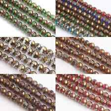 20/40Pcs Round Faceted Crystal Glass Charm Loose Spacer Beads Jewelry Making 8mm