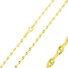 Pure 2.3mm 925 Sterling Silver Nova Chain Necklace / Gold Plated made in italy