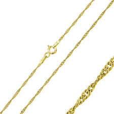 Pure 1.5mm 925 Sterling Silver Chain Necklace / Gold Plated made in italy