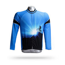 Men's Winter Fleece Thermal Cycling Jersey Long Sleeve Bicycle Jacket Warm Top