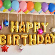 """13Pcs """"HAPPY BIRTHDAY"""" Letters Foil Balloons For Birthday Party Decoration SE"""