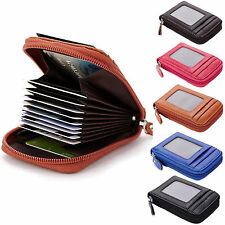 Mens/Womens Genuine Leather Wallet ID Credit Cards Holder Organizer Purse I