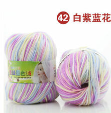 Multicolor Much Color Cashmere wool Silk Yarn Cotton Baby Wool Hand-knitted 50g