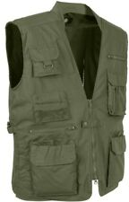 Olive Drab Multi-Pocket Cargo Tactical Concealed Carry Travel Vest