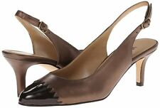 VANELi Women's Liddy Castagna Brown Leather Slingback Pump