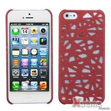 XM-For APPLE iPhone 5/5S Slim Back Case Cover Rubberized Red Bird's Nest