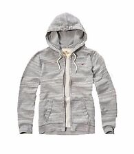 New Hollister By Abercrombie & Fitch Men Full Zip Hoodie Gray