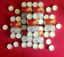 USA Unscented White Tealights Candles- Choose 16 or 32 or 48 Tealights