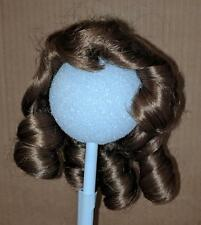 VINTAGE Synthetic Light Red Brown Blonde Brunette Curly Long Hair Doll Wig NEW