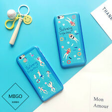 Summer Creative Swimming Funny Image Soft Couple Case Cover For iPhone 6 6s Plus