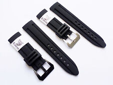 Taurus 24mm Soft Silicone Diver Watch Band Strap PreV BuckleFor Panerai 44mm PAM