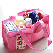 Baby Diaper Nappy Bottle Mother Bag Outdoor Insert Tote Storage Handbag FT