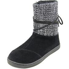 Toms Nepal Boot Youth  Round Toe Suede Black Winter Boot