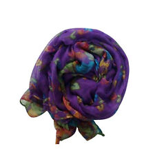 Retro Women Elegant Soft Voile Silk Wrap Shawl Scarf Long Stole Ladies Gifts Hot