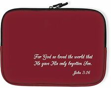 Angelstar John 3:16 Small Red Church Case, 8-1/2 Inches