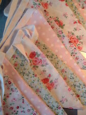 BEAUTIFUL WEDDING BUNTING/BIRTHDAY PARTY/ 50 mtrs   FABRIC VINTAGE FLORAL