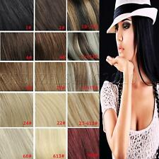 """18"""" 100% Real Human Hair Clip In Remy Hair Extensions Blonde 70G 100G"""