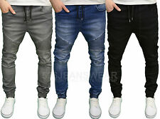 Seven Series Mens Designer Branded Slim Fit Cuffed Biker Jeans, BNWT