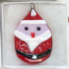 CHRISTMAS TREE DECORATION fused glass FATHER CHRISTMAS